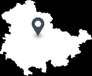 Karte mit dem Standort der Fleischerei Zitzmann