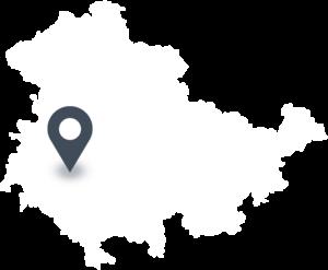 Karte mit dem Standort von Thüringer Waldquell