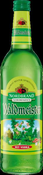 Eine Flasche Waldmeisterlikör von Nordbrand Nordhausen