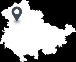 Karte mit dem Standort von HAINICH