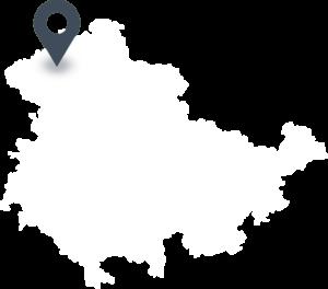 Karte mit dem Standort der Brauerei Neunspringe