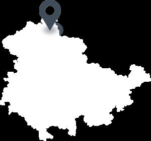 Karte mit dem Standort von Nordbrand Nordhausen