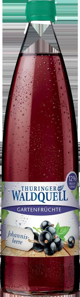 Eine Flasche Thüringer Waldquell Gartenfrüchte Johannisbeere