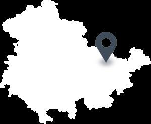 Karte mit dem Standort der EWU Thüringer